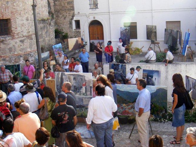 La DO Sierra de Segura promociona sus aceites de oliva en el Certamen de pintura rápida del PN Sierra de Cazorla, Segura y las Villas