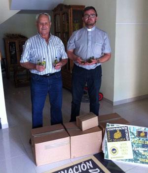 """La DO """"Sierra de Segura"""" promociona sus aceites entre los asistentes a la Fiesta de la Espiga en Beas de Segura"""