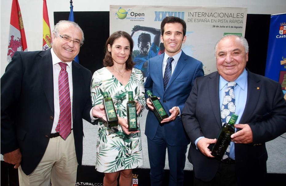"""""""El aceite de la vida"""" en el acto de presentación del Open de Tenis Castilla y León"""