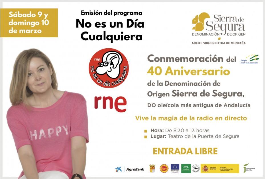 El programa No es un día cualquiera traerá este fin de semana a La Puerta de Segura a Alberto Conejero, Andrés Aberasturi, Mago More o José Ramón Pardo